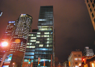 downtown pittsburgh at night 3